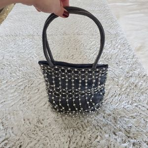 Studded Sparkly Evening Handbag 90s